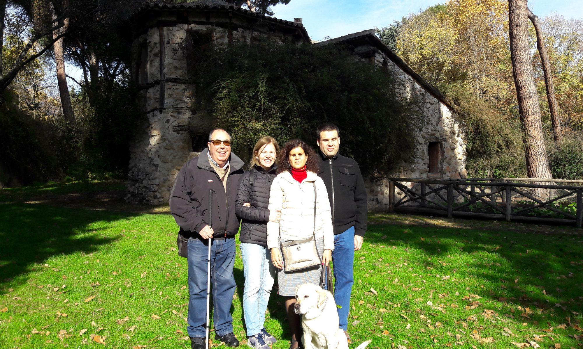 Ana y Pilar en el Parque del Capricho de Madrid